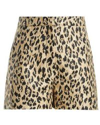 Valentino - Leopard-print Brocade Shorts - Lyst