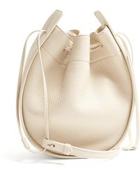 The Row - Drawstring Leather Cross Body Bag - Lyst