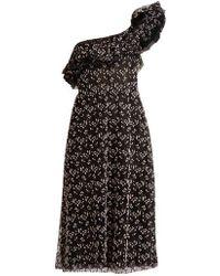 Giambattista Valli - One-shoulder Embroidered Cotton-blend Tulle Dress - Lyst