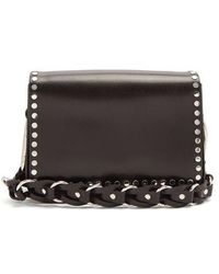 Isabel Marant - Calibar Stud-embellished Leather Cross-body Bag - Lyst