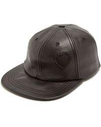 Saint Laurent - Heart Detail Leather Cap - Lyst
