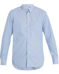 Officine Generale - Benoit End-on-end Cotton Shirt - Lyst