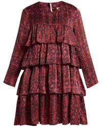 Muzungu Sisters - Jila Hameden Tiered Ruffle Silk Dress - Lyst