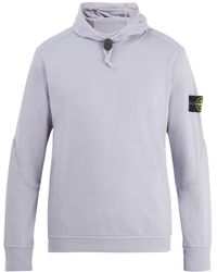 Stone Island - Mock-neck Toggle Hooded Sweater - Lyst