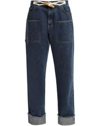 JW Anderson - Toggle-detail Straight-leg Jeans - Lyst
