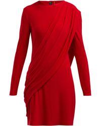 Norma Kamali - Draped Jersey Dress - Lyst