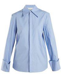 Awake - Oversized Cuff Cotton Shirt - Lyst