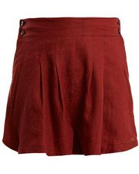 Three Graces London - Rhoda Pleated Linen Shorts - Lyst