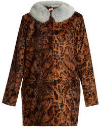 Shrimps | Papa Puss Leopard-print Faux-fur Coat | Lyst