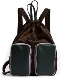 Marni - Leather And Nylon Carryall Backpack - Lyst