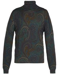 Etro - Paisley Wool Roll-neck Jumper - Lyst