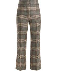 JOSEPH - Ridge Checked Wool Trousers - Lyst