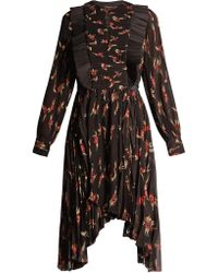 Isabel Marant | Wesley Floral-print Pleated Dress | Lyst