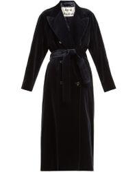 Acne Studios - Double Breasted Velvet Robe Coat - Lyst