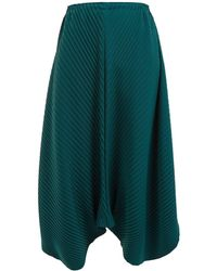 Issey Miyake - Bloom Pleated Balloon Culottes - Lyst