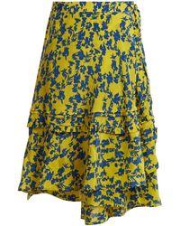 Preen Line - Luna Floral-print Chiffon Wrap Skirt - Lyst