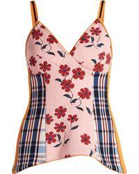 Marni - Floral Jacquard V Neck Top - Lyst