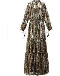 Altuzarra - Currie Floral Print Metallic Silk Blend Gown - Lyst