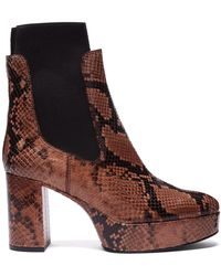 ace1906f228 Lyst - MM6 by Maison Martin Margiela Pink Faux-python Over-the-knee ...