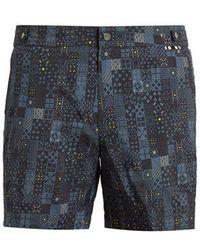 Danward - Geometric-print Swim Shorts - Lyst