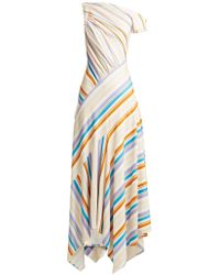 Peter Pilotto - Off The Shoulder Striped Jersey Dress - Lyst