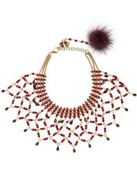 Rosantica Carramato bead-embellished necklace z0QWaeo222