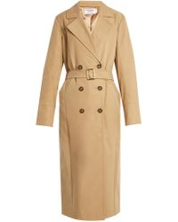 FRAME - Belted Double-breasted Trench Coat - Lyst
