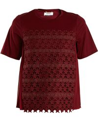 MUVEIL - Star-embroidered Cotton-blend T-shirt - Lyst