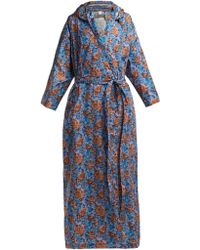 Vetements - Floral Print Hooded Raincoat - Lyst