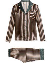 Morpho + Luna - Ines Printed-silk Pyjama Set - Lyst