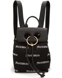 JW Anderson - Pierce Logo-embroidered Mini Linen Backpack - Lyst