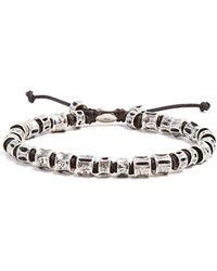 M. Cohen - - Sterling Silver Bone Bracelet - Mens - Silver Black - Lyst