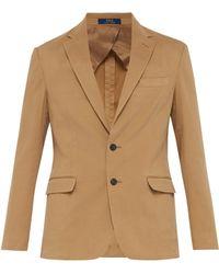 Polo Ralph Lauren - Blazer en coton à boutonnage simple - Lyst