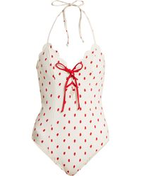 Marysia Swim - Broadway Lace Up Swimsuit - Lyst