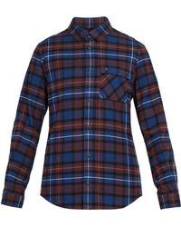Aztech Mountain - Loge Peak Plaid Cotton Flannel Shirt - Lyst