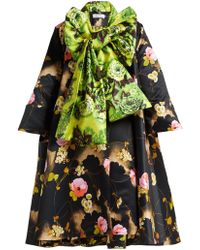 Richard Quinn - Flora Print Duchess Satin A Line Coat - Lyst
