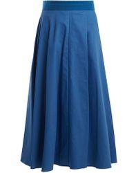 Sportmax - Fiumana Cotton-blend Midi Skirt - Lyst