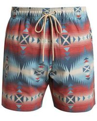 Faherty Brand - Aztec And Jewel-print Swim Shorts - Lyst