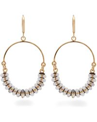 Isabel Marant - Tropical Beaded Hoop Drop Earrings - Lyst