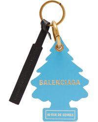 Balenciaga - Tree Shaped Leather Key Ring - Lyst