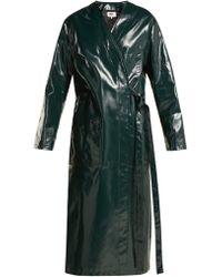 MM6 by Maison Martin Margiela - Coated Cotton Raincoat - Lyst