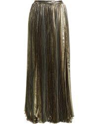 Maria Lucia Hohan - Sada Pleated Silk Blend Maxi Skirt - Lyst