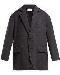 Raey - Oversized Single Breasted Wool Blend Blazer - Lyst