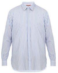 Barena - Point-collar Striped Cotton Shirt - Lyst