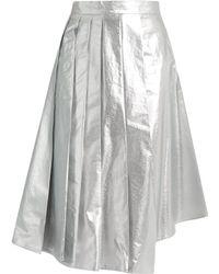 Awake   Shiny Starfish Asymmetric Pleated Cotton Skirt   Lyst