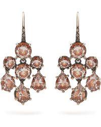 Bottega Veneta | Chandelier Oxidised-silver Earrings | Lyst