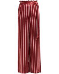 Asceno - Striped Silk Pyjama Style Trousers - Lyst