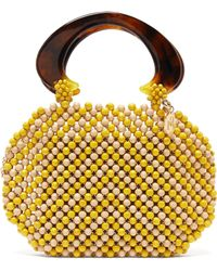 Rosantica By Michela Panero - Freddy Wooden Beaded Pouch Bag - Lyst