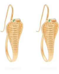 Jade Jagger - 18kt Gold & Emerald Cobra Earrings - Lyst