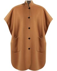 Burberry - Vintage Check Reversible Wool Cape - Lyst